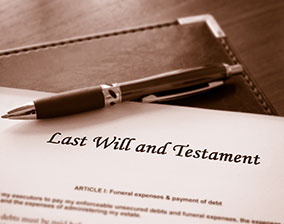 Last Will and Testament used to plan long term gift and donation strategies.