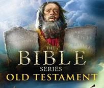 Moses holding two stone tablets with the Ten Commandments. Stories from the Old Testament of the Bible.